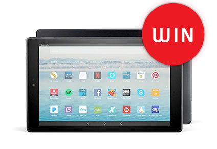 Win an Amazon Kindle Fire 10 Inch Tablet
